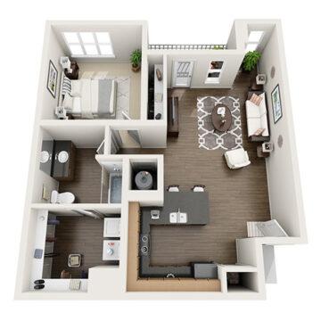 D-308 floor plan